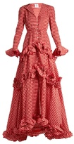 Rosie Assoulin Ruffled and crinkled gingham gown