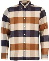 Aquascutum London Rigby Shirt HJA17WBBUC Brown Check