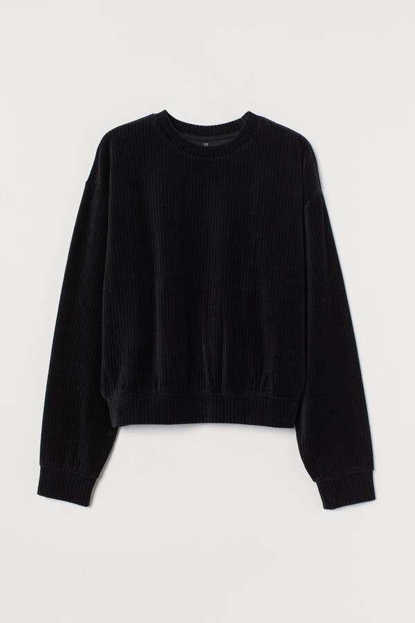 H&M - Cotton-blend Sweatshirt - Black