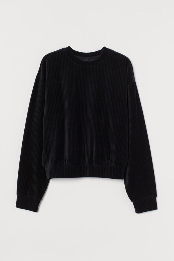 Thumbnail for your product : H&M Cotton-blend Sweatshirt - Black
