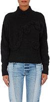 The Elder Statesman Women's Rope-Stitch Cashmere Sweater-BLACK