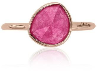Monica Vinader Siren Stacking Pink Quartz ring