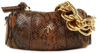 MANU Atelier Micro Cylinder Snake Print Leather Bag