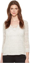 Lucky Brand Lace-Up Pullover Sweater Women's Sweater