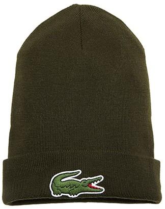 Lacoste Big Croc Beanie (Silver Chine) Caps