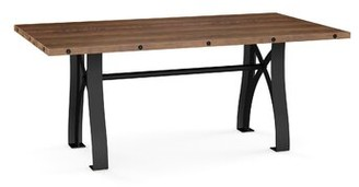 "Everly Dining Table 17 Stories Top Color: Brown, Size: 30"" H x 72"" L x 40"" W"
