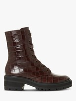 Dune Promis Leather Lace Up Hiker Boots