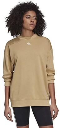 adidas Trefoil Sweatshirt (Linen Khaki) Women's Sweatshirt