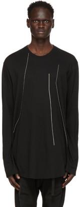 Julius Black Embroidered Long Sleeve T-Shirt