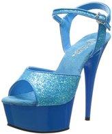 Pleaser USA Women's Delight-609 Ankle-Strap Sandal