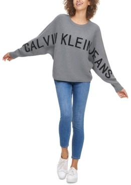 Calvin Klein Jeans Cotton Logo-Graphic Sweater