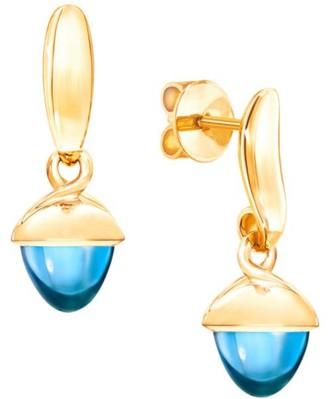 Tamara Comolli Mikado Flamenco 18K Yellow Gold & Swiss Blue Topaz Acorn Earrings