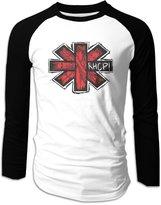 Sofia RHCP Rock Band Logo Long Sleeve Baseball Shirts For Men L