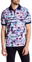 Bugatchi Print Regular Fit Jersey Polo