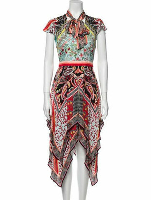 Alice + Olivia Printed Long Dress w/ Tags