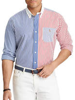 Polo Ralph Lauren Big and Tall Classic-Fit Mixed-Patterned Cotton Shirt