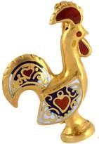 CDO Enameled Rooster Brooch