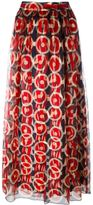 Marc Jacobs circle print maxi skirt - women - Silk/Rayon - 10