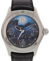 Corum Bubble Bats 082.150.20 Stainless Steel & Leather Mens Watch
