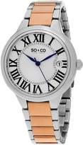 SO & CO New York Women's 5052B.3 Madison Quartz Two Tone Rose Gold Watch