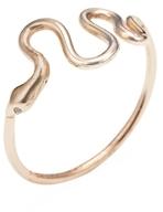 Cynthia 14K Rose Gold & Diamond Snake Ring