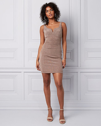 Le Château Sparkle Knit Pleated Mini Dress