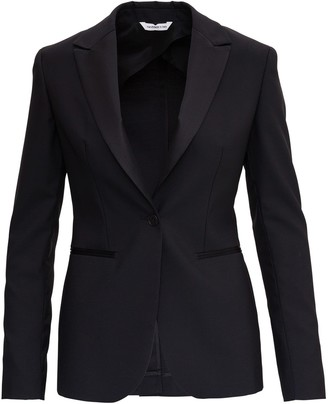 Tonello Single Breasted Black Blazer In Wool Blend