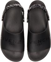 Givenchy Leather Slide Strap Sandals