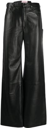 Natasha Zinko Wide-Leg Leather Trousers