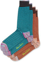 Robert Graham Two-Pair Striped Socks Set, Multi