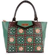 Nicole Lee Women's Daysha Flowery Embellish Tote Bag