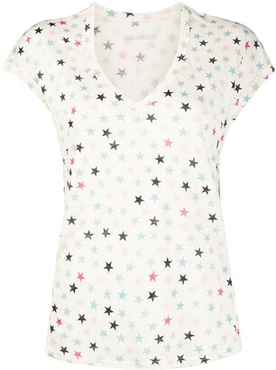 Zadig & Voltaire star print V-neck T-shirt