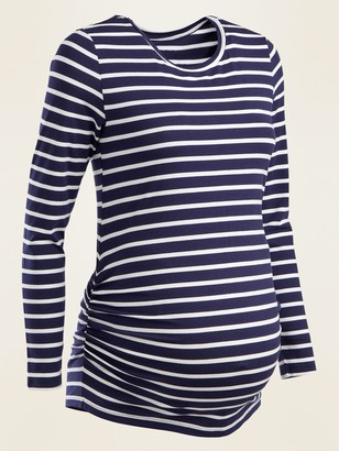 Old Navy Maternity Striped Long-Sleeve Tee