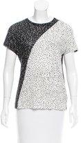 Proenza Schouler Printed Short Sleeve Top