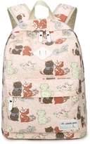 Greeniris Kids Backpack Canvas Cute School Bag Pink