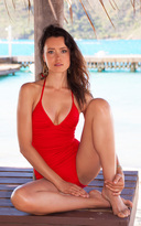 Voda Swim Scarlet Envy Push Up Shirred One Piece