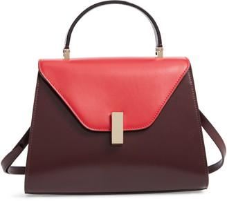 Valextra Iside Medium Colorblock Leather Top Handle Bag