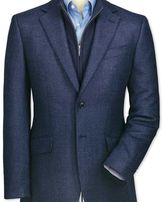 Charles Tyrwhitt Slim fit blue birdseye lambswool jacket