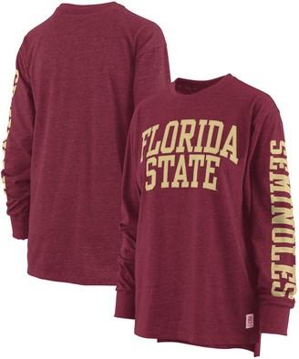 Women's Pressbox Garnet Florida State Seminoles Plus Size Two-Hit Canyon Long Sleeve T-Shirt