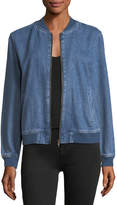Velvet Heart Dorla Embroidered Denim Bomber Jacket