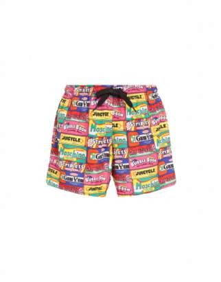Moschino Chewin Gum Lycra Beach Boxer Man Multicoloured Size L
