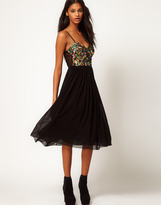 Motel Wild One Bralet Dress in Multi Sequin