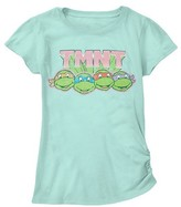 Nickelodeon TMNT Girls' Character Graphic Tee - Mint Green M