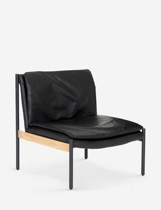 Lulu & Georgia Ronella Leather Accent Chair, Aged Black