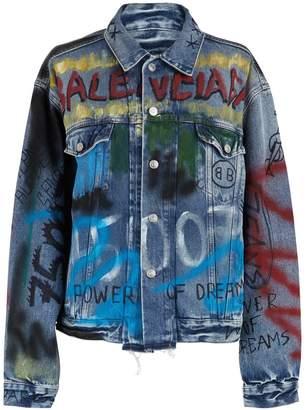 Balenciaga Graffiti denim jacket