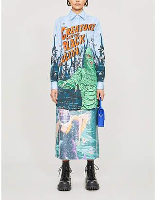 Moschino Graphic-print stretch-cotton shirt dress