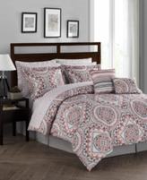 Jessica Sanders CLOSEOUT! Seville Reversible 12-Pc. Queen Comforter Set