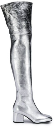 Marni Metallic Thigh-High Boots