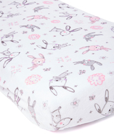 White Bunny Hop Minky Changing Pad Cover