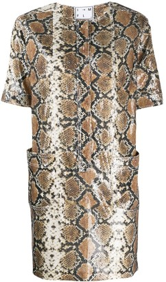 In The Mood For Love Snakeskin Print Mini Dress